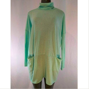 Nymphe Womens Turtleneck Sweater Large Green